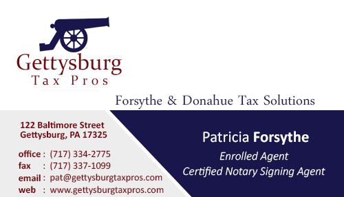 Gettysburg Print & Business Card Design