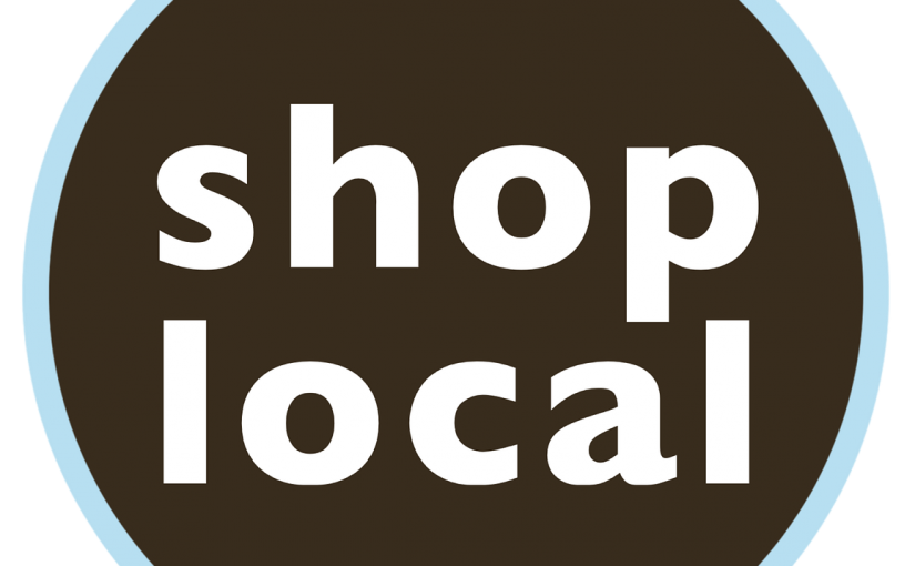 local - shop local sign