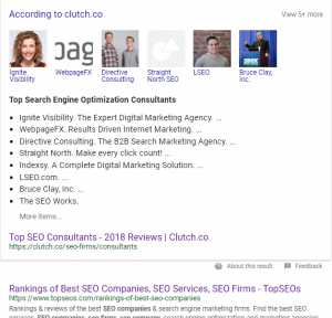 Search Engine Optimization Company - top seo list